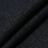Tissu balayé par denim noir de Spandex de polyester de rayonne de coton