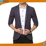 A forma nova do projeto do OEM Outwear o blazer ocasional do algodão para homens