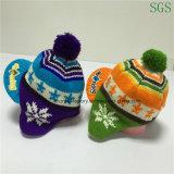 Sombrero de acrílico de Earflap de los cabritos y de los niños