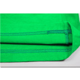 T-shirt impressos algodão da alta qualidade dos homens verdes da broca