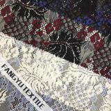 Tessuto del merletto di disegno del reticolo del foglio