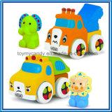 DIY Karikatur-tierisches weiches Plastikbaustein-Auto-Spielzeug-Set