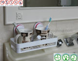 Rechteckiges ABS Bathroom Storage Rack mit Air Vacuum Suction Cup
