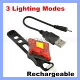 Fahrrad-Fahrrad-Rückseiten-Heck-Lampen-rote blinkende Leuchte USB-nachfüllbare Heck-Leuchte 3 Modus-rautenförmige im Freien 2 LED