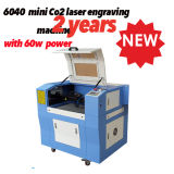 Preço pequeno da máquina de estaca do laser de Ck6040 40With60W para o papel/tela/acrílico