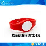 Braccialetto compatibile registrabile del PVC di Em 125kHz RFID