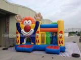 Het opblaasbare Gelukkige Huis van de Sprong van Combo van de Clown Opblaasbare