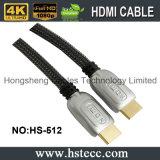 Cabo elevado do metal HDMI da definição com o conetor chapeado ouro