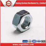 Noix Hex noire Hex galvanisée de la noix DIN934 DIN6915 d'acier du carbone