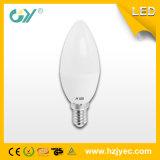 Luz de la vela de RoHS TUV 3000k 6-7W E27 LED del CE