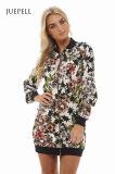 Jupe florale de femmes de bureau de procès