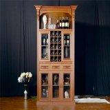 Armário de vinho antigo com porta de vidro