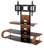 Согнутая деревянная самомоднейшая стойка TV мебели таблицы TV дома (BR-TV548)