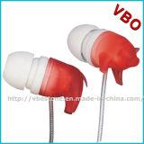Trasduttore auricolare sveglio Earbuds dell'animale farcito del maiale per i trasduttori auricolari del fumetto del bambino