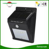 6 o diodo emissor de luz IP65 Waterproof a luz solar ao ar livre da parede do sensor da luz humana sem fio PIR do jardim do sensor de movimento