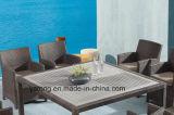 Tabla de jardín de madera mezclada del jardín de los muebles fijada con la silla por 8-10PCS (YTA020-1 y YTD533-2)