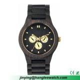 OEM het Nieuwe Horloge van het Horloge van de Okkernoot Zuivere Natuurlijke Houten