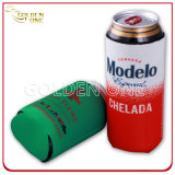 Dispositivo di raffreddamento stampato abitudine della bottiglia da birra di Siamesed del neoprene