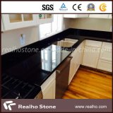 China Absolute Black Granite / Mogolia Black Granite for Kitchen Tops