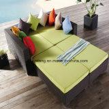 Il sofà sintetico esterno della mobilia del rattan di svago ha impostato con l'ottomano (YT016-4PCS/SET)