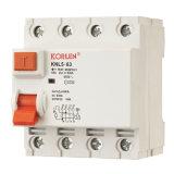 Identificação atual residual RCCB do disjuntor da alta qualidade (KNL5-63)