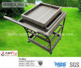 Elegant Garden Poly Rattan Food Serving Trolley