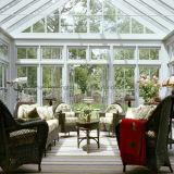 Sunroom en aluminium de Chambre en aluminium de lumière du soleil de verre feuilleté (arrêt temporaire complet)