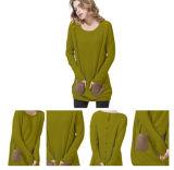 Maglione lavorato a maglia cachemire di inverno di colore scuro