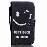 밧줄을%s 가진 Samsung G3608/G5308/Note 5/P8/S3/S4/S5/S6를 위한 인쇄에 의하여 착색되는 그림 미소 마스크 지갑 전화 상자