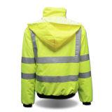 Rivestimento riflettente di alta di visibilità dei vestiti degli uomini sicurezza all'ingrosso di modo