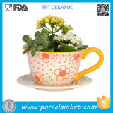 Teacup Garden Plant Pots Ceramic Outdoor Large Flower Pots Flowerpot