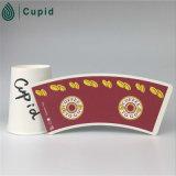 PE enduit de ventilateur imprimé par tasse de tasse de papier de Hztl 020016 Hongtai