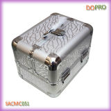 Couleur argent taille moyenne Maquillage Glitter Case Portable (SACMC051)