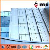 밝은 은 PVDF 코팅 건물 알루미늄 정면 위원회