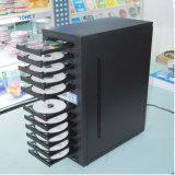 1 gaveta com 10 a máquina CD da cópia das bandejas DVD com cifragem