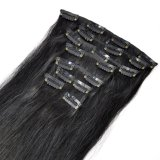 Grampo em Hair Human Silky Hair Full Set Clip in/on Extension