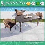 プラスチック表の屋外表(魔法様式)を食事する多木製表のコーヒーテーブル
