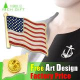 Pin del risvolto dello schermo di formato di attività di promozione/distintivo stupefacenti con le virgolette personalizzate di disegno