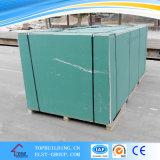 Tarjeta de yeso impermeable para la cocina del cuarto de baño/el cartón yeso resistente de agua/Board1200*2400*12.5mm verde