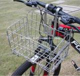 Cesta de aço preta de dobramento da bicicleta com boa qualidade