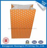 Sacchetto di carta stampato Wavepoint arancione di imballaggio per alimenti di colore