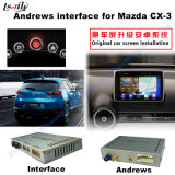 Interfaccia Android di percorso dell'automobile per Mazda Cx-3, percorso di tocco di aggiornamento di Stor del gioco, WiFi, BT, Mirrorlink, HD 1080P, programma di Google