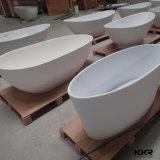 Precio de fábrica tina de baño libre superficial sólida de Corian de 52 pulgadas