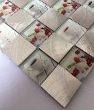 Diseño de cristal especial de cristal del mosaico del azulejo mixta de aluminio Mosaico (FYL112)