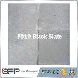 Ardoise noire de carrelage de couleur pour le plancher, panneau de mur, toiture, décoration, aménageant en parc