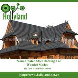 Hoja de piedra del material para techos del metal (tipo de madera)