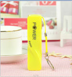 Nueva Design Colorful Mobile Phone Gift Lipstick Portable Power batería de la batería/2600mAh Power de 2016 para Phone