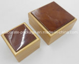 Rectángulos de joyería de empaquetado de pequeña madera hecha a mano