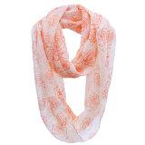 Mädchen-Form-Rose gedruckter Polyester-Chiffon- Unbegrenztheits-Sprung-Schal (YKY1109)