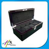 Коробка квадратного основного волокна углерода деревянная для одиночный упаковывать вахты